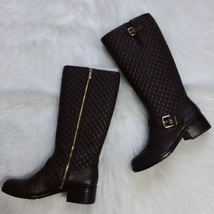Vince Camuto Wenters Brown Leather Riding Boots